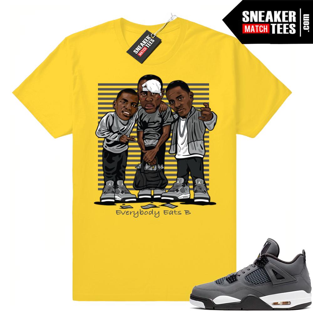 Jordan 4 sneaker tees Cool Grey