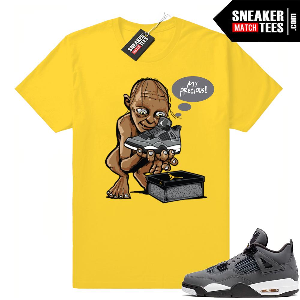 Jordan 4 sneaker tees match Cool Grey