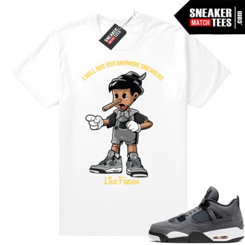 Jordan 4 t-shirts Cool Grey