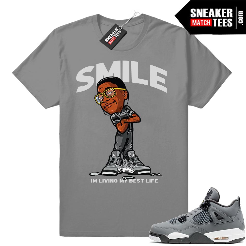 Jordan 4s matching cool grey tees