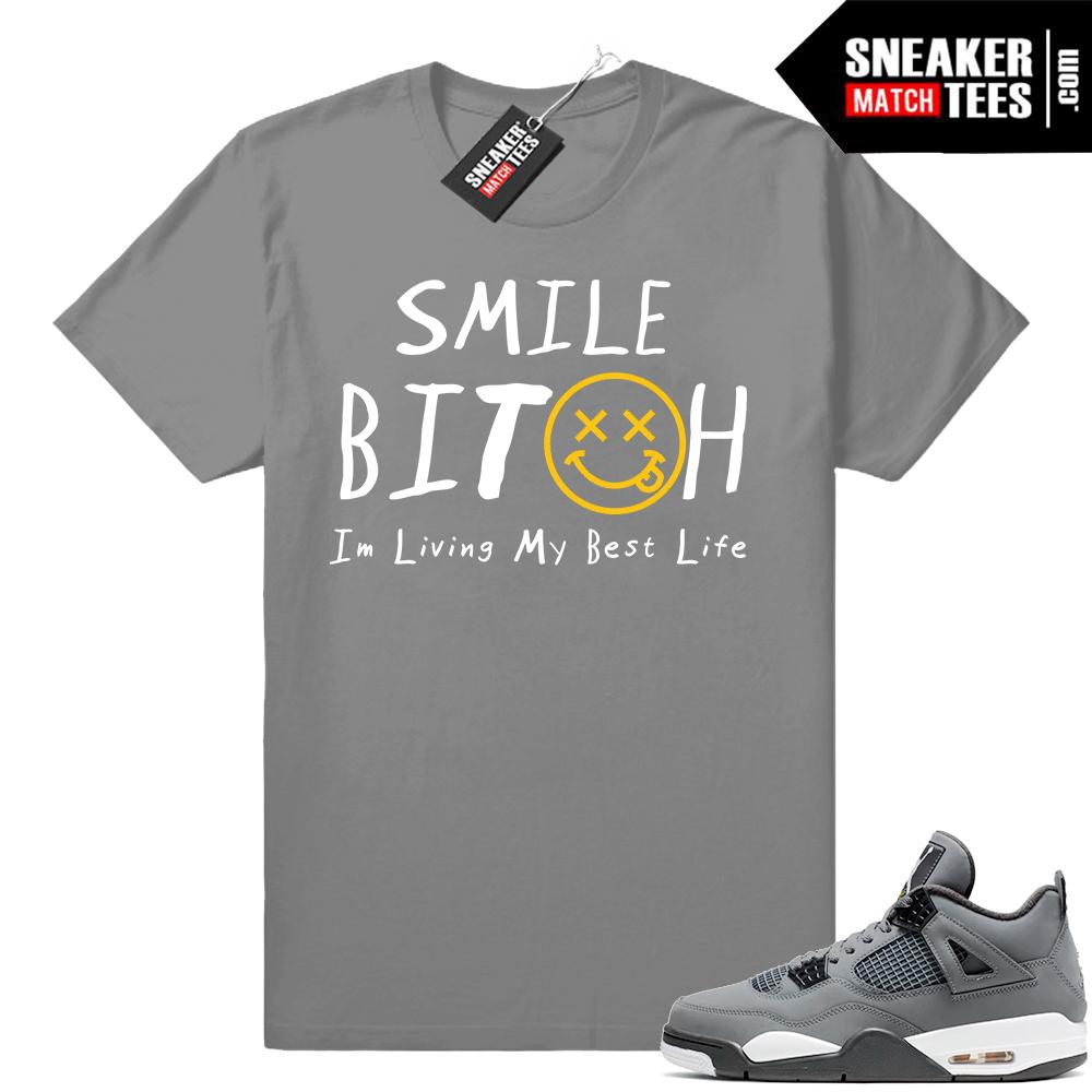 Jordan Retro 4 sneaker tees cool grey