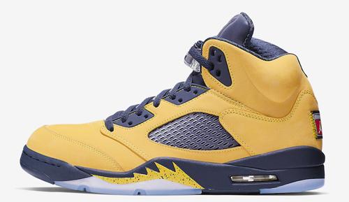 Jordan release date July Jordan 5 Michigan