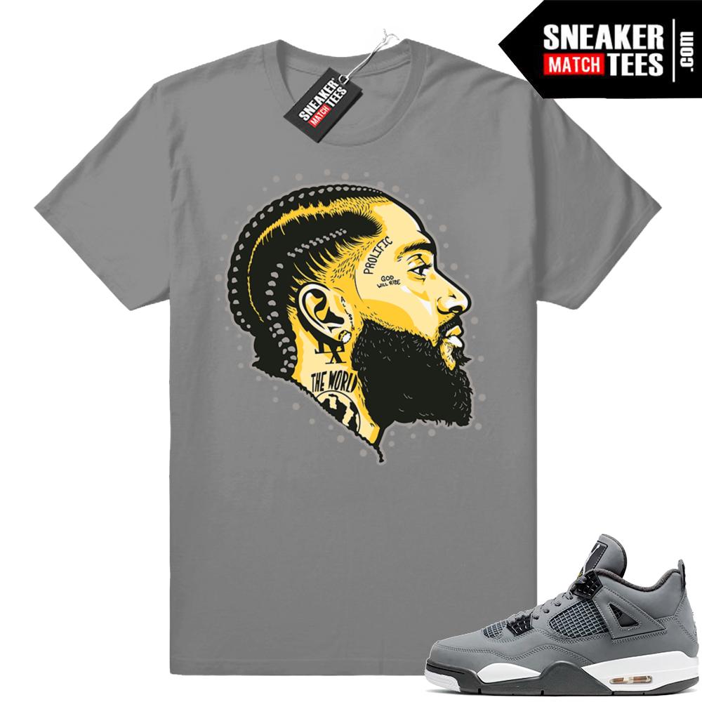 Match Jordan 4 Cool Grey Shirts