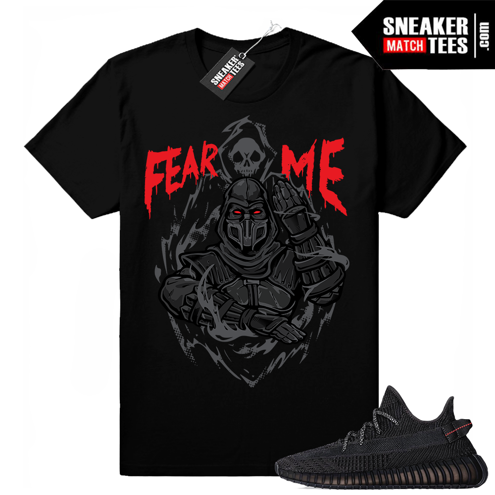 Match Yeezy shirt Black 350s