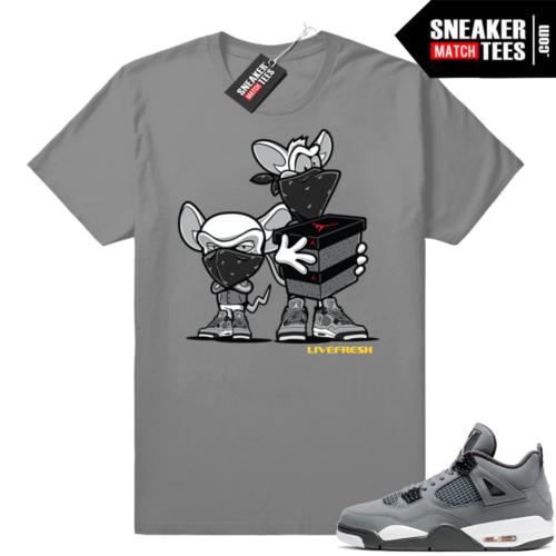 Shirts match Cool Grey 4s