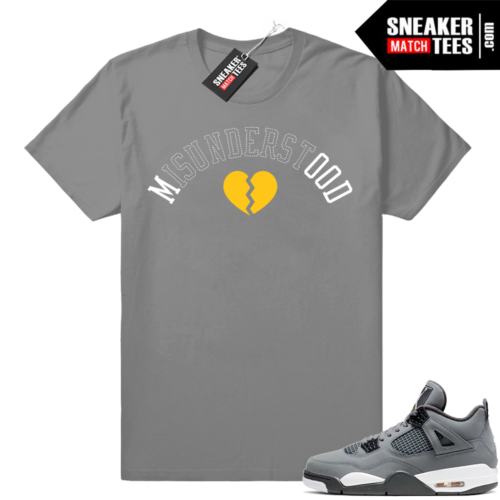 Sneaker match jordan 4 cool grey tee