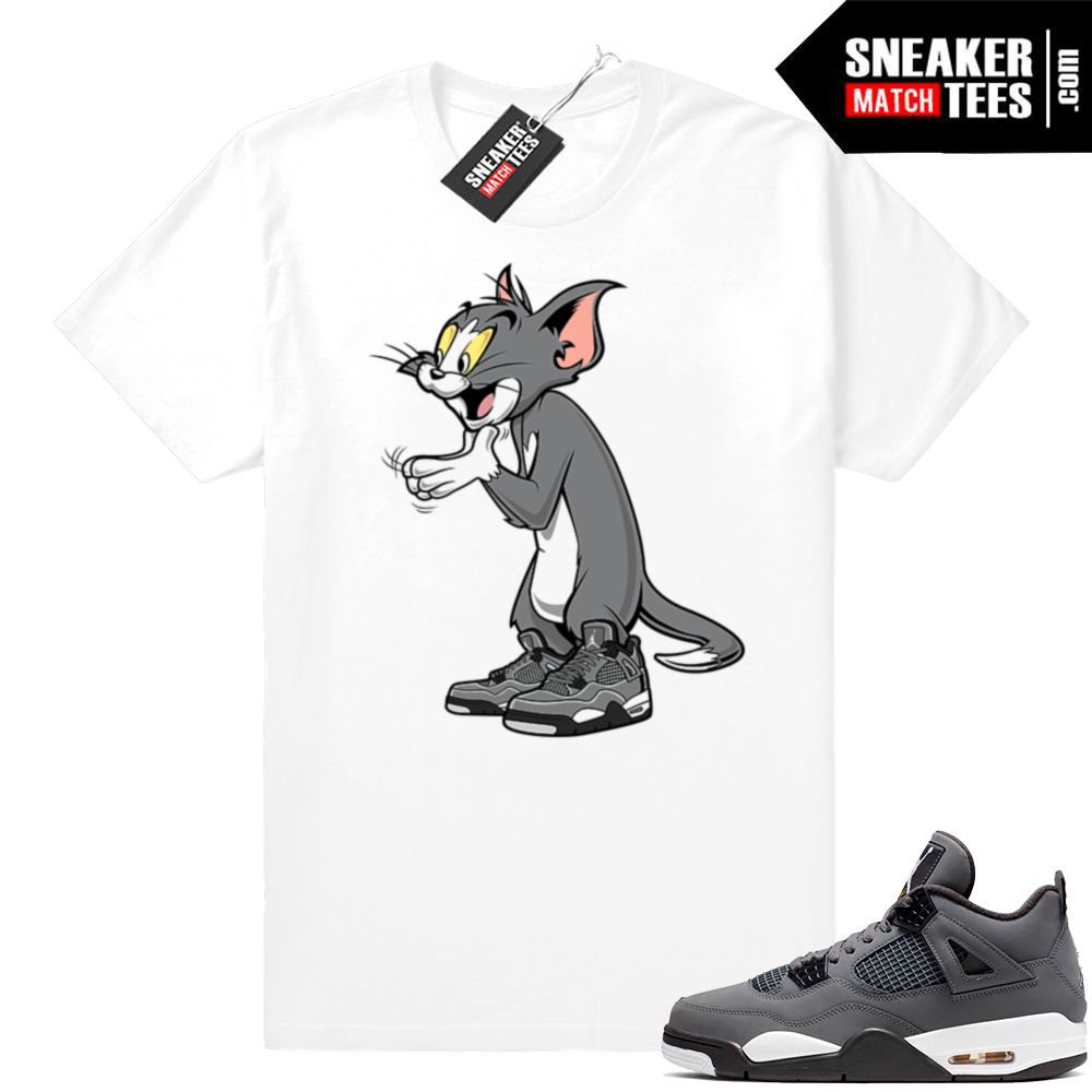 Sneaker shirts matching Cool Grey Jordan 4