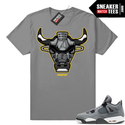 Sneaker tees match Jordan 4 Cool Grey