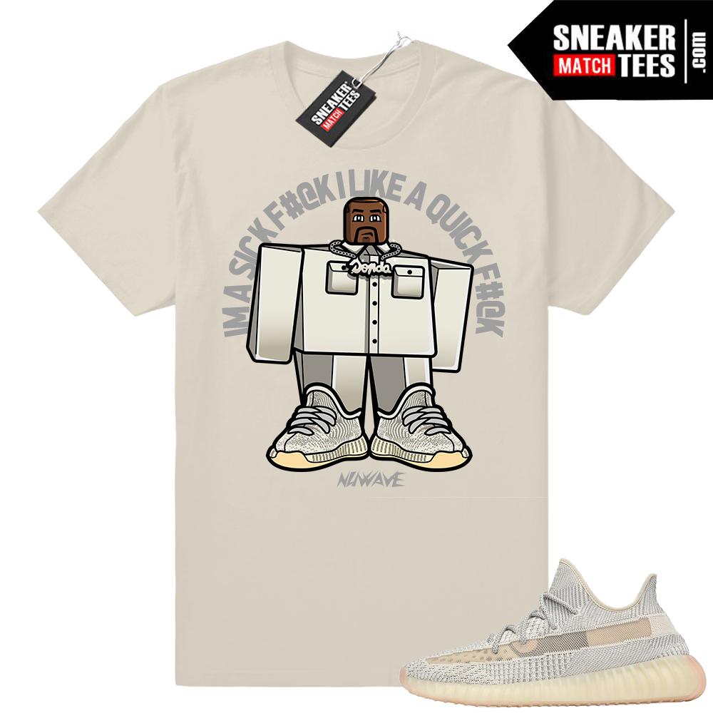 Yeezy 350 V2 Lundmark sneaker match shirt