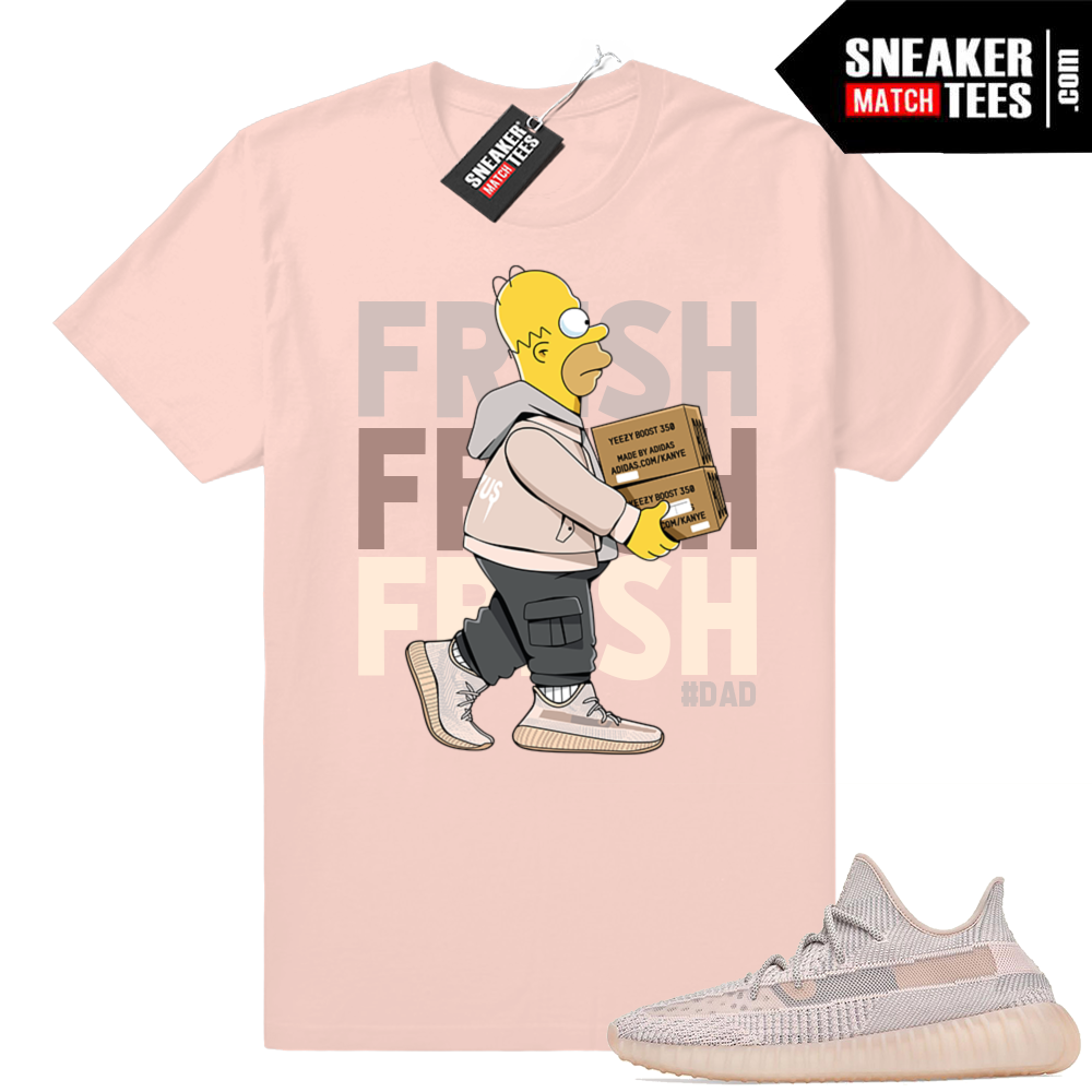 Yeezy Boost 350 V2 Synth Fresh Homer tee