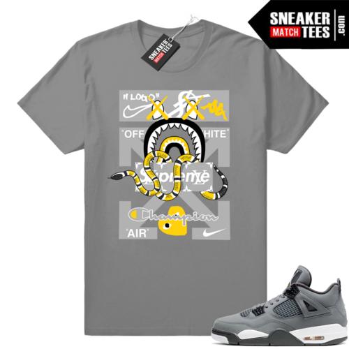 shirts to wear with Jordan 4 Cool Grey