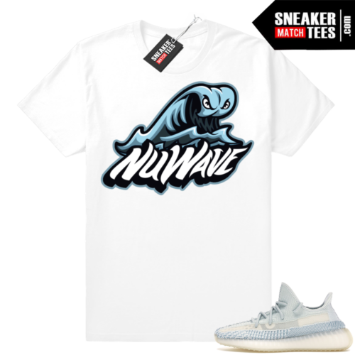 Cloud White Yeezy NuWave Big Wave Logo tee