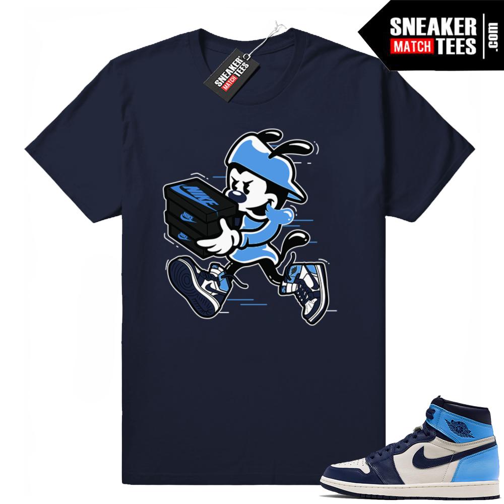 Jordan 1 Obsidian UNC shirts
