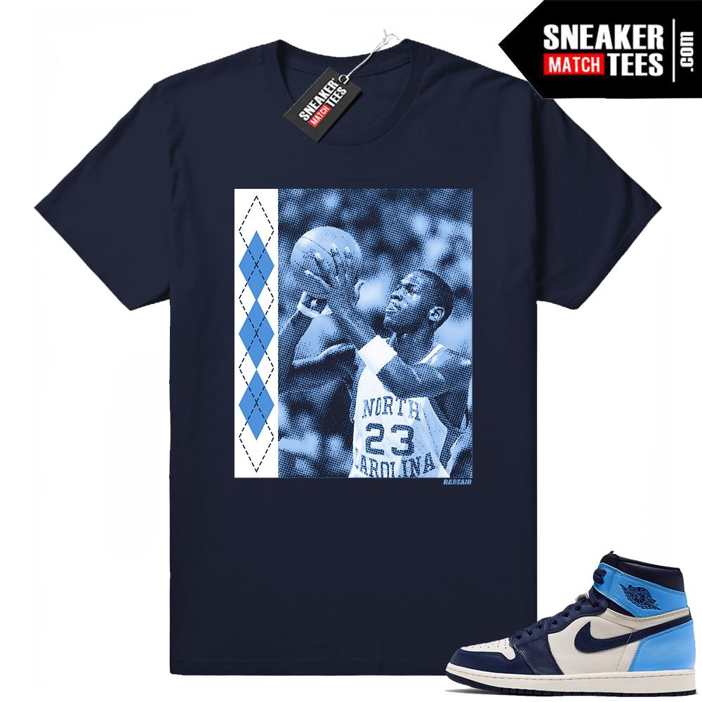 Jordan 1 UNC tee shirt