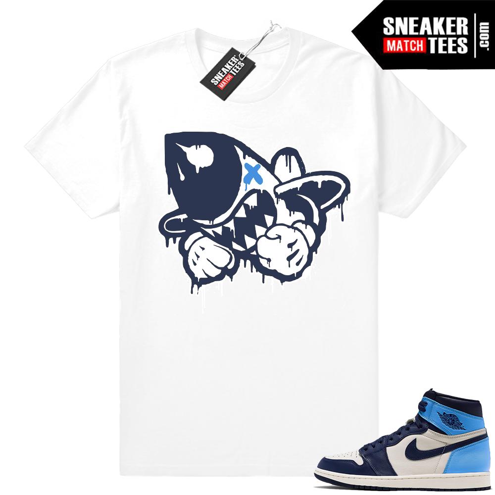 Jordan 1s UNC matching shirt