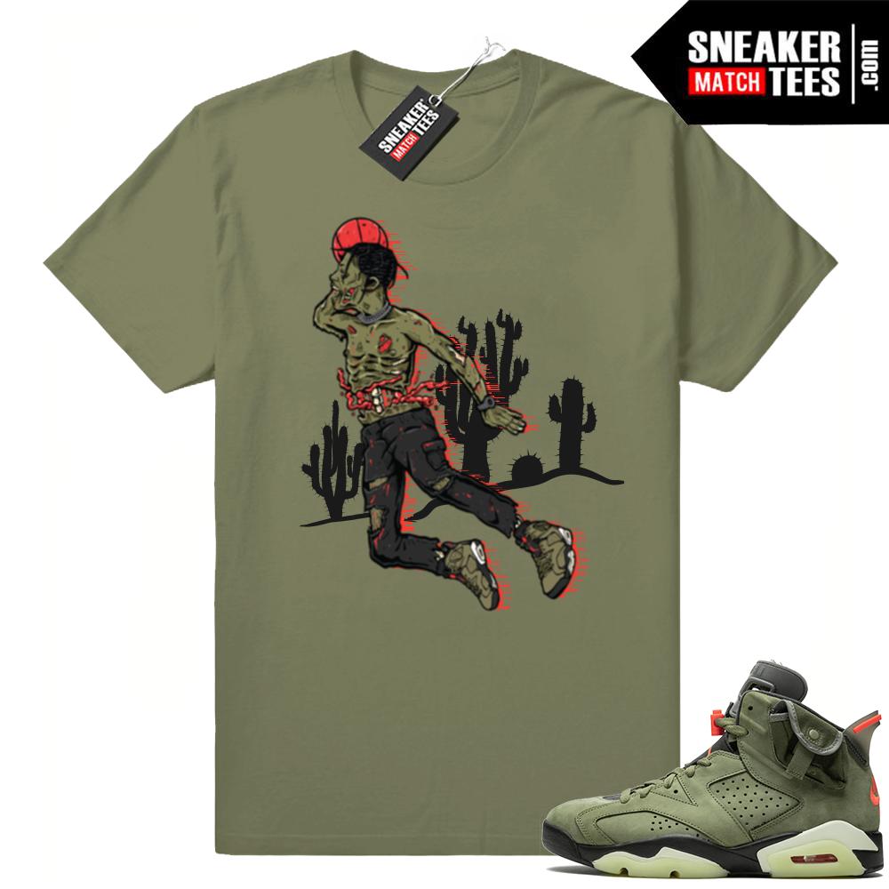 Jordan 6 Travis Scott shirts