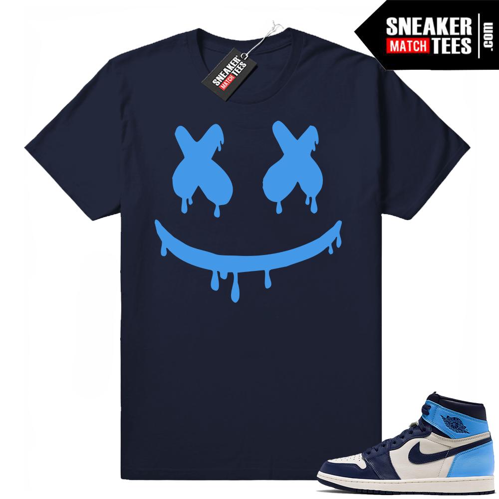 Jordan shirt Obsidian 1s