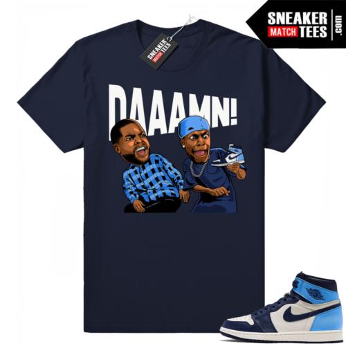 Jordan sneaker shirts UNC 1s