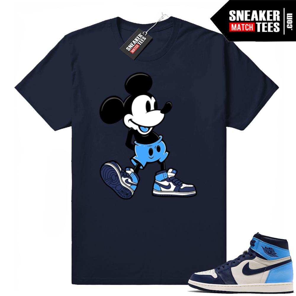Match Jordan 1 UNC shirts