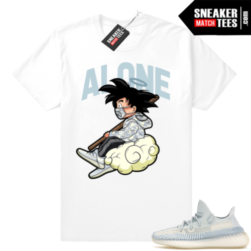 Shirts match Yeezy Cloud white sneakers