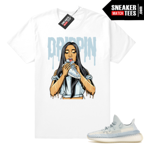 Sneaker Match Yeezy 350 V2 Cloud white tees