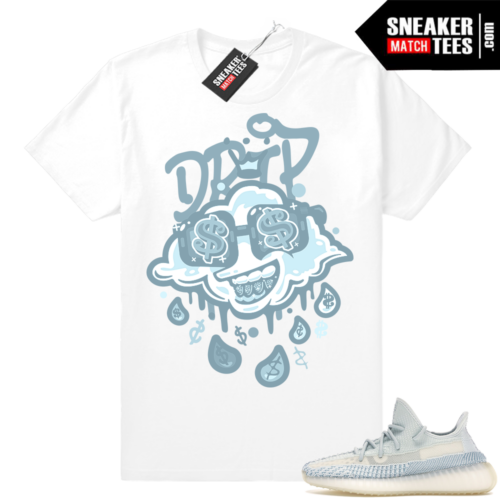 Sneaker Match Yeezy Cloud White Drip tee