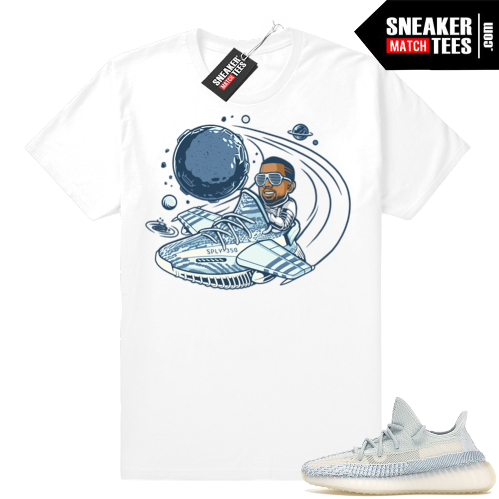Sneaker Match Yeezys Cloud White tees