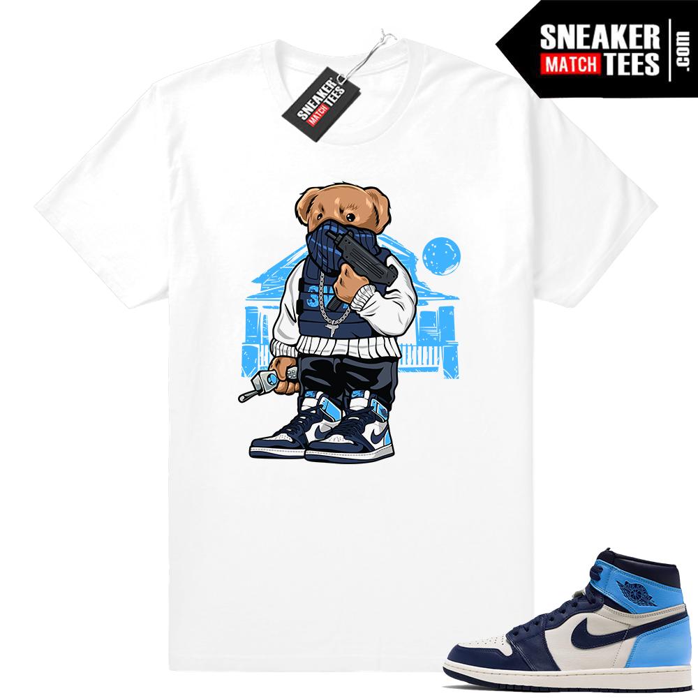 Sneaker tee shirt UNC 1s