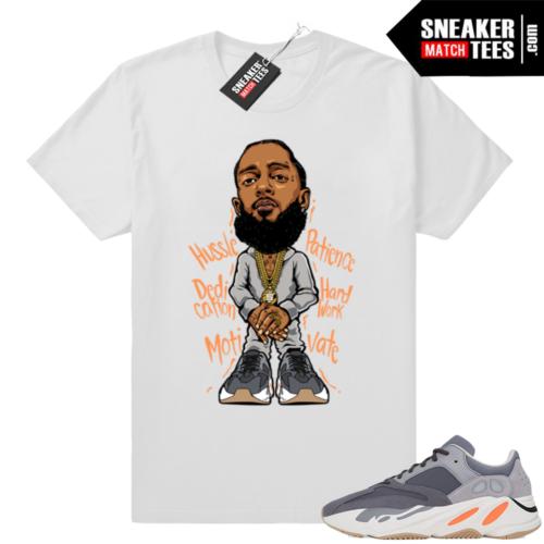 Sneaker tees Yeezy 700 Nipsey tee