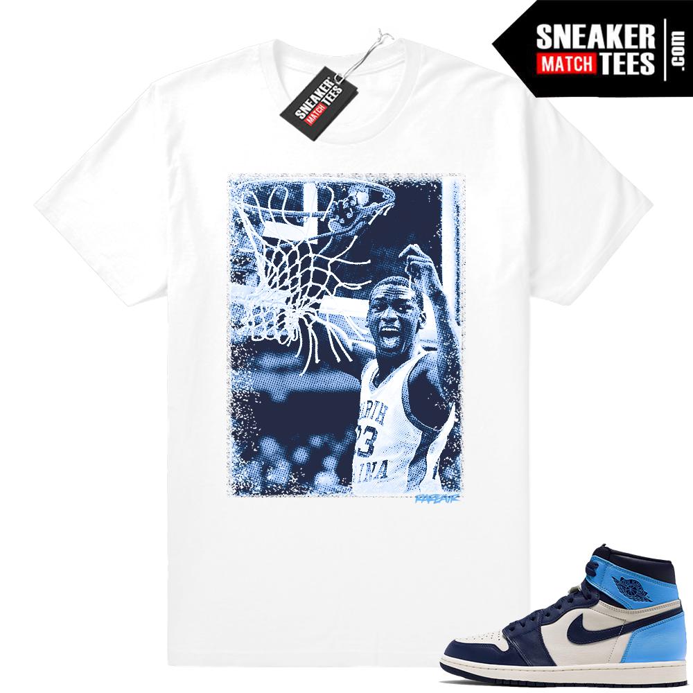Sneaker tees match UNC 1 Jordans