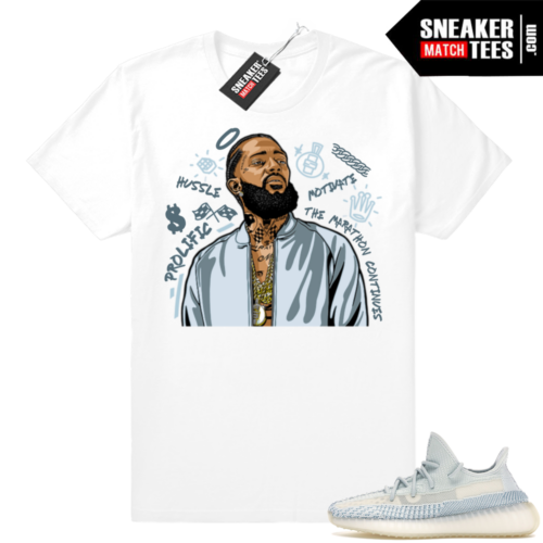 Yeezy 350 Cloud White sneaker match tees