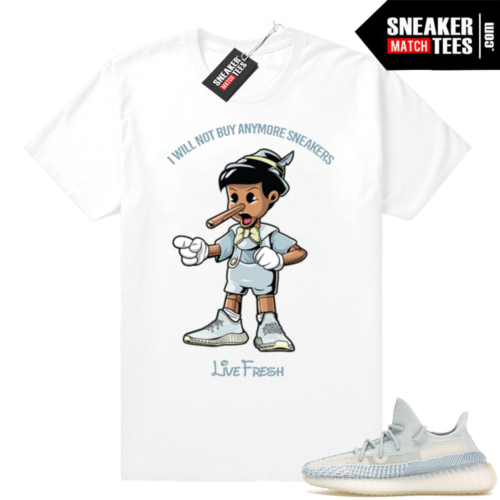 Yeezy Cloud White Sneaker Matching tees