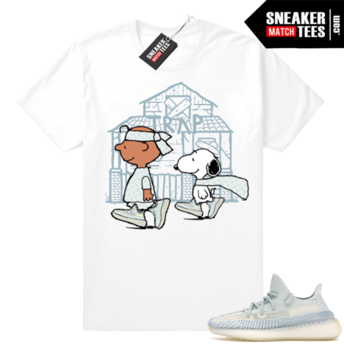 Yeezy Cloud White sneaker match tees