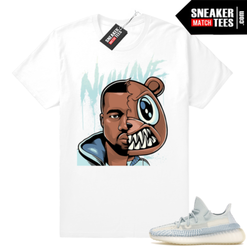 Yeezy Cloud White sneaker tee shirts