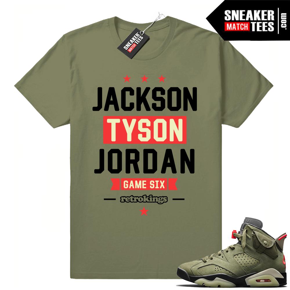 Air Jordan 6 Travis Scott matching clothing