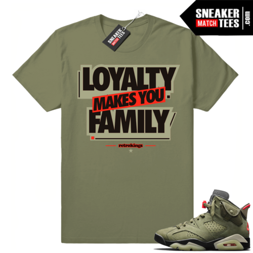 Air Jordan 6 shirts Travis Scott