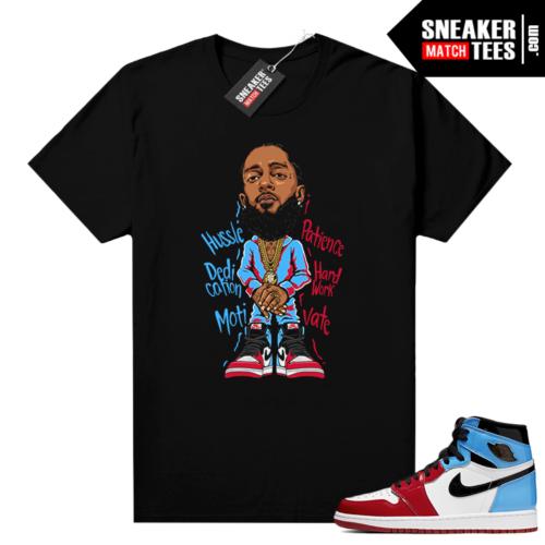 Fearless Jordan 1 shirt Black Nipsey Hussle
