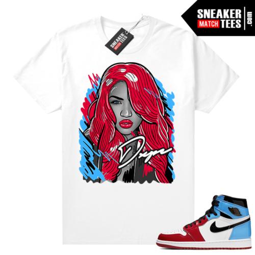 Fearless Jordan 1 shirt White Casey Vibes