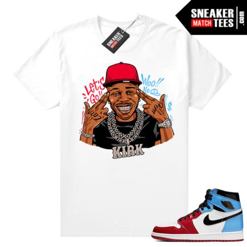 Fearless Jordan 1 shirt White Dababy Kirk