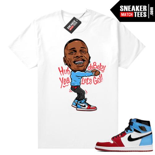 Fearless Jordan 1 shirt White Dababy Toon