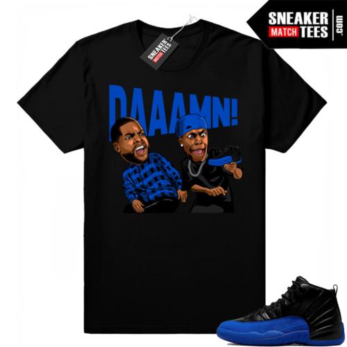 Jordan 12 Royal Sneaker Match Shirts