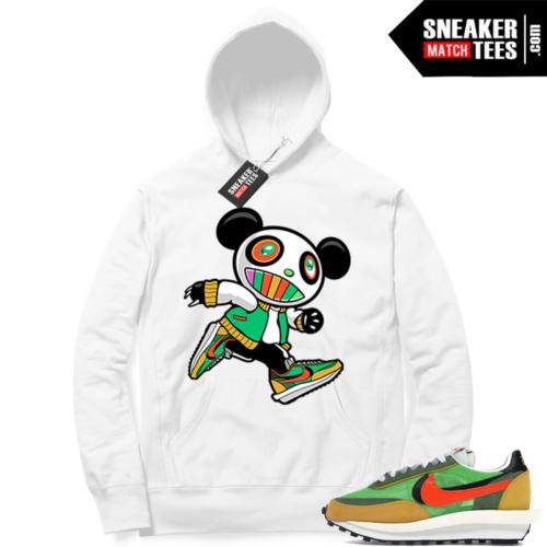 Nike Sacai Waffle Green Multi White Hoodie Sneaker Panda
