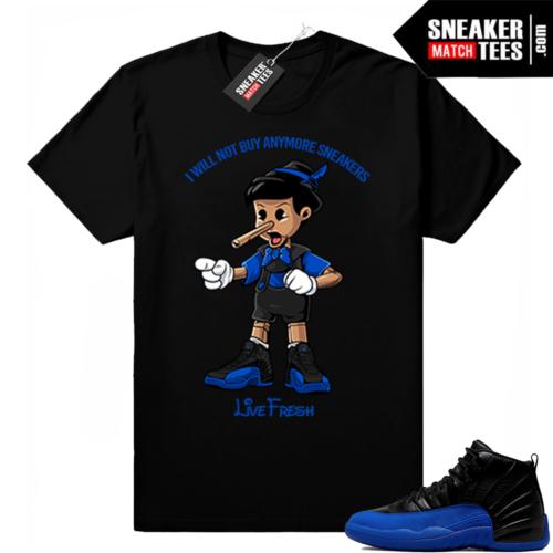 Royal 12s sneaker shirts