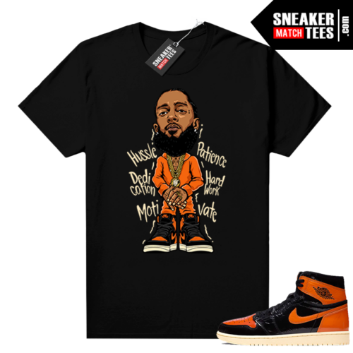 Shattered Backboard 1s 3.0 shirt black Nipsey Hussle