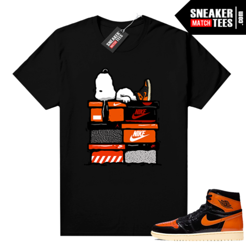 Shattered Backboard 1s 3.0 shirt black Sneakerhead Snoopy