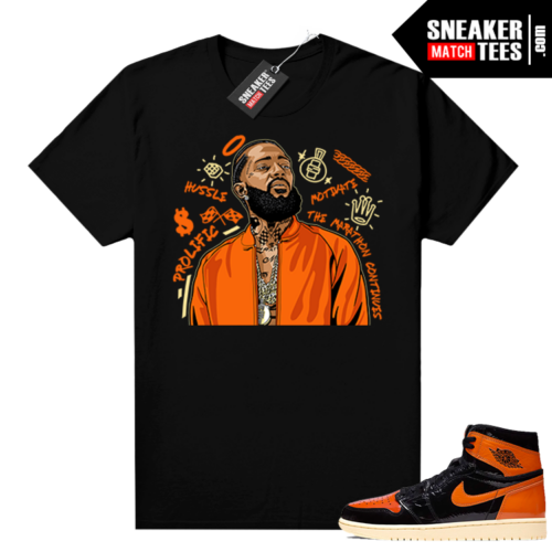 Shattered Backboard 3.0 sneaker tees shirts black Nipsey Tribute