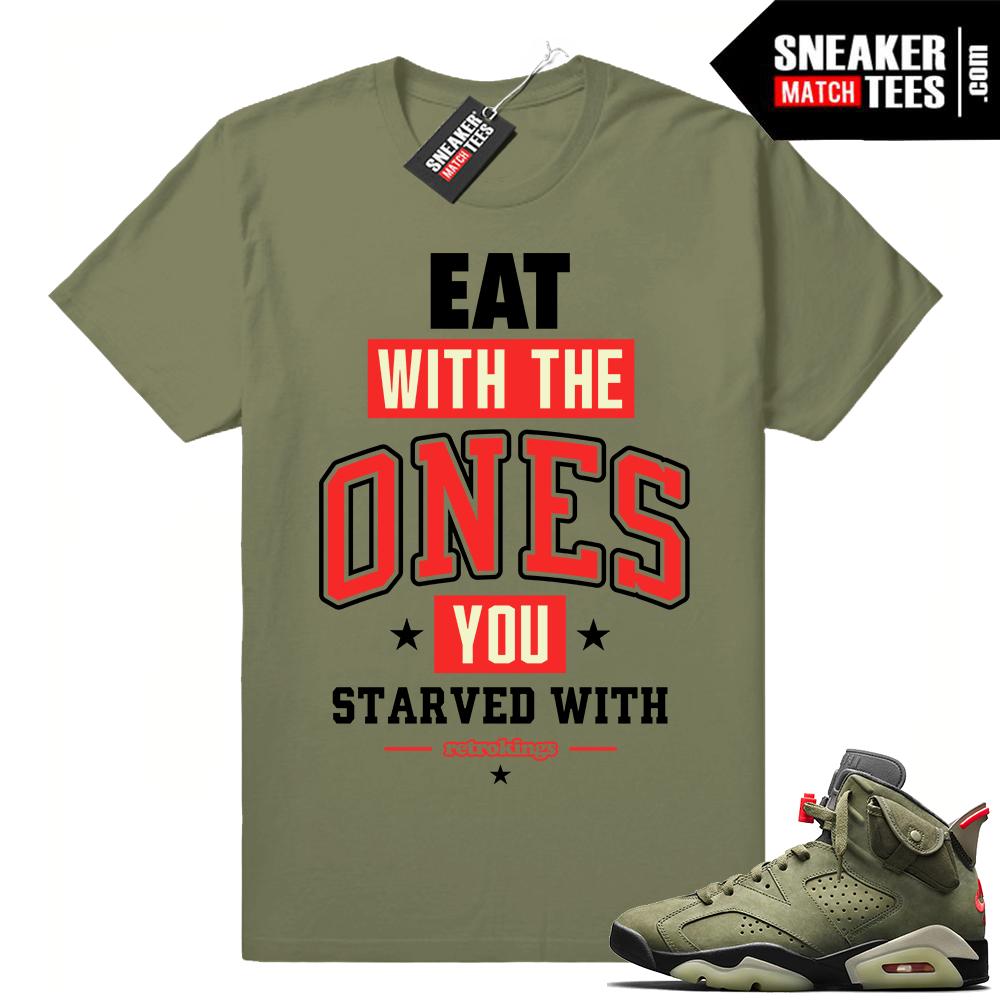 Sneaker match outfits Travis Scott Jordan 6
