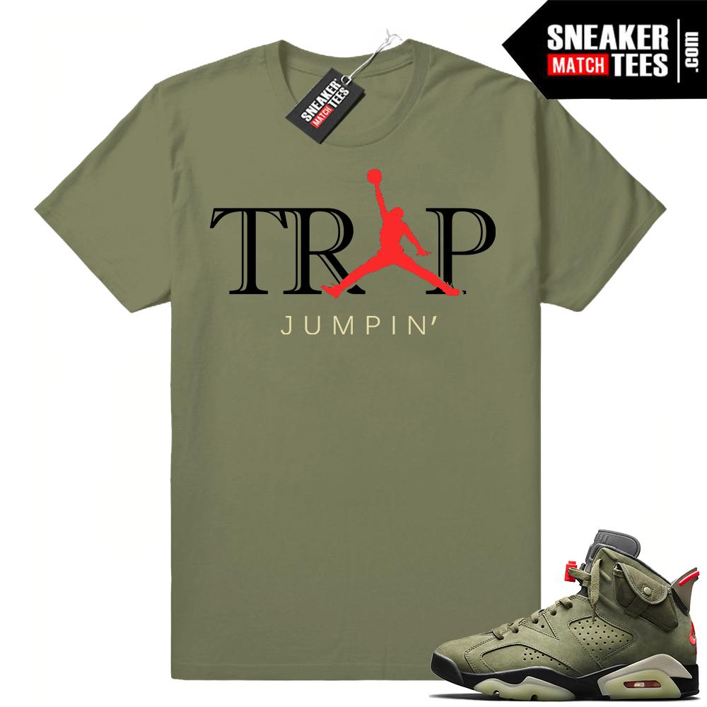 Sneaker shirt outfit match Travis Scott 6s