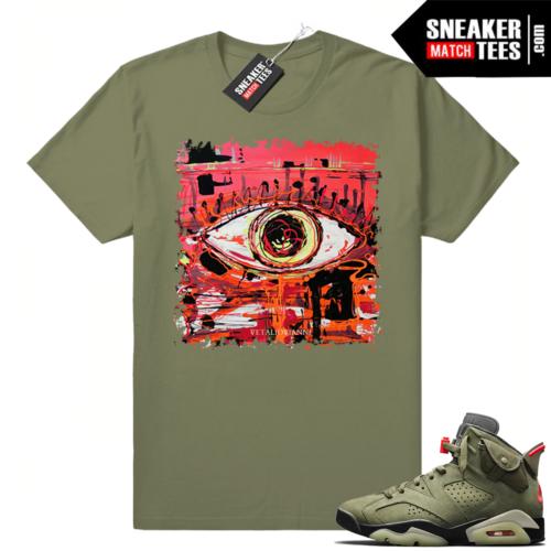 Travis Scott 6s Abstract Eye T-shirt