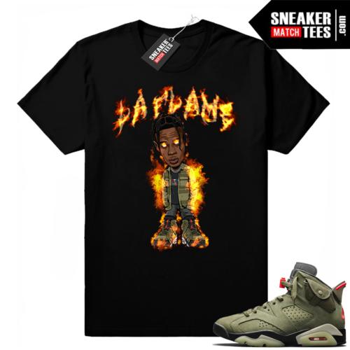 Travis Scott 6s La Flame t-shirt